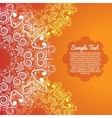 Invitation card with abstract flower background vector image vector image