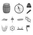 isolated object nautical and voyage icon vector image vector image