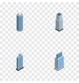 Isometric skyscraper set of urban skyscraper