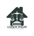 law house logo design vector image
