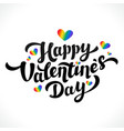 lgbt community happy valentines day design 14th vector image