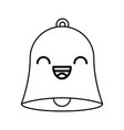 line icon bell cartoon vector image vector image