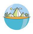 Line island in color vector image vector image