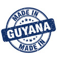 made in guyana blue grunge round stamp vector image vector image