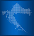 matrix map of croatia vector image
