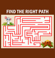 maze game find a mouse way to cheese vector image vector image
