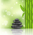 meditative oriental background with bamboo