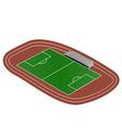 Mini Soccer field vector image vector image
