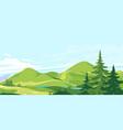mountain range landscape background vector image