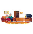 old people in room in nursing home vector image