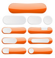 orange interface buttons web icons vector image vector image