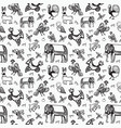 pattern with mythical animals vector image