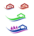 people and home logo set vector image