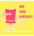poster with a job search announcement showing an vector image