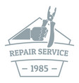 repair service logo vintage style vector image