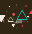 retro abstract geometric background poster vector image vector image