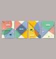retro design templates for a4 covers banners vector image