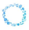 round frame with watercolor vector image vector image