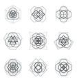 sacred geometric mandala design elements vector image vector image
