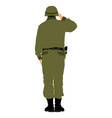 saluting army soldier isolated on white background vector image