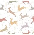 seamless background deer vector image vector image
