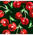 seamless pattern of watercolor cherry vector image