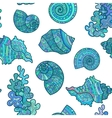 Seamless pattern sea shell vector image vector image