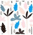 seamless pattern with hand drawn palm trees vector image vector image