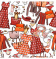 seamless pattern with woman dresses underwear vector image vector image
