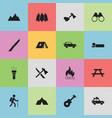 set of 16 editable trip icons includes symbols vector image vector image