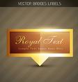 shiny royal label vector image vector image