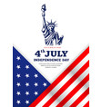 statue liberty celebration flag america vector image vector image