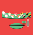 Sushi Cartoon vector image