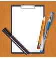 Tablet and drawing tools vector image vector image