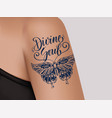tattoo on female shoulder mystic butterfly vector image vector image