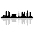tokyo skyline vector image
