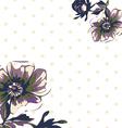 Vintage wallpaper frame rose flower pattern vector image vector image