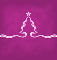 Violet Christmas Background vector image