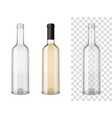 wine blass bottles set vector image vector image
