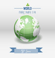 world environment day concept with shiny globe and vector image vector image