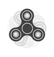 hand spinners emblem on white background logo vector image