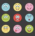 cartoon face vector image