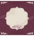Decorative card template vector image
