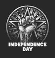independence day chalk drawing on textured vector image