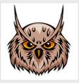 owls head mascot vector image