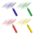 A set of four pencil samples vector image vector image