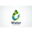 Abstract business company water drop logo template vector image