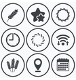 Agricultural icons Gluten free symbols vector image vector image