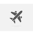 Aircraft or Airplane Icon Silhouette vector image vector image