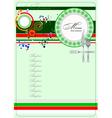 al 0329 italian restaurant menu vector image vector image